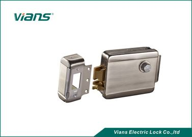 Double Cylinder Control Electric Gate Rim Lock , Electric Mechanical Lock Stainless Steel
